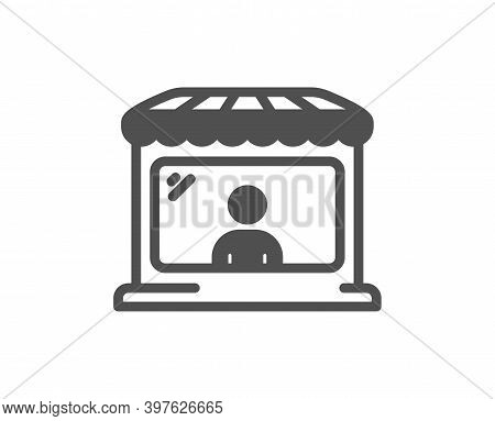 Market Seller Icon. Wholesale Store Buyer Sign. Retail Marketplace Symbol. Quality Design Element. F