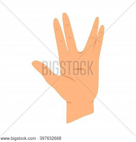 Hands Gesture. Communication Language Or Signlanguage. Gestures Witch Showing Emotion Or Sign On Whi