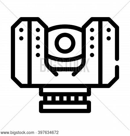 Laser Scanner Device Line Icon Vector Illustration