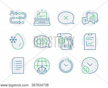 Technology Icons Set. Included Icon As Magistrates Court, Freezing Water, Settings Blueprint Signs.