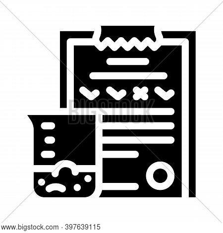Soil Analysis Glyph Icon Vector Illustration Black