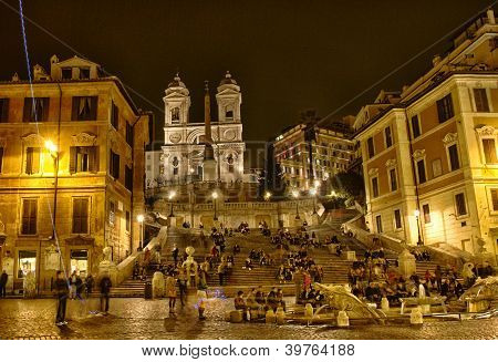 The Spanish Steps from Piazza di Spagna