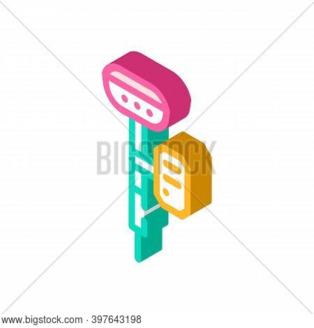 Gnss Receivers Isometric Icon Vector Illustration Color