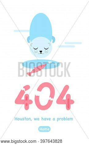 404 Error Page Not Found. Vertical Banner Or Website With System Fatal Error.support Service. Ice Ho