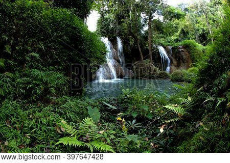 Waterfalls In The Jungle Of Thailand The Abundance Of Forests