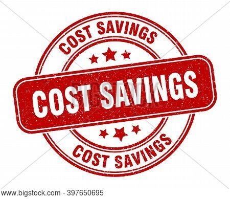 Cost Savings Stamp. Cost Savings Label. Round Grunge Sign