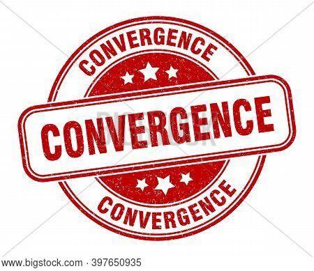 Convergence Stamp. Convergence Label. Round Grunge Sign