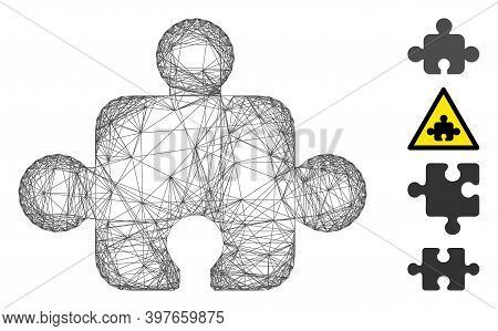 Vector Wire Frame Component. Geometric Wire Frame 2d Network Made From Component Icon, Designed From