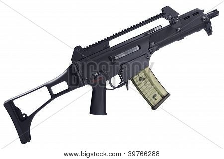 Automatic assault rifle isolated. Clipping path