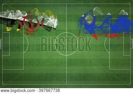 Brunei Vs Slovenia Soccer Match, National Colors, National Flags, Soccer Field, Football Game, Compe