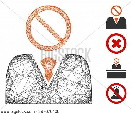 Vector Wire Frame Mister No. Geometric Hatched Frame 2d Net Based On Mister No Icon, Designed From C