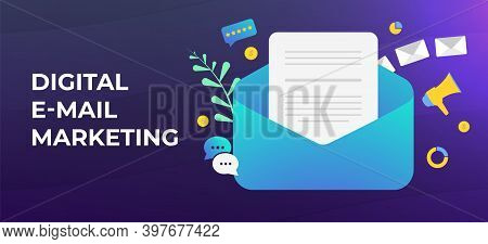 Digital Email Marketing And Lead Generation Concept. Create Personalized Emails With Leverage Social