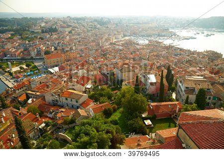 Roofs of old town. Rovinj, Croatia