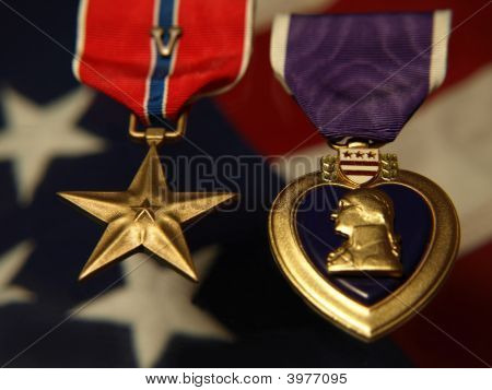 Bronse Star And Purple Heart