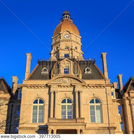 Historic Courthouse building in downtown, Terra Haute Indiana