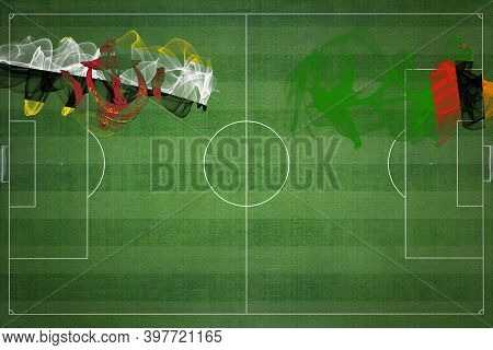 Brunei Vs Zambia Soccer Match, National Colors, National Flags, Soccer Field, Football Game, Competi