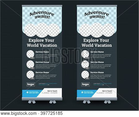 Travel Tour Rollup Banner, Travel Agency Business Rollup Banner,