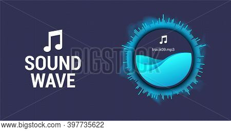 Circle Spiral Sound Wave With Rhythm Line And Dynamic Motion Effect. Abstract Circle Voice Assistant
