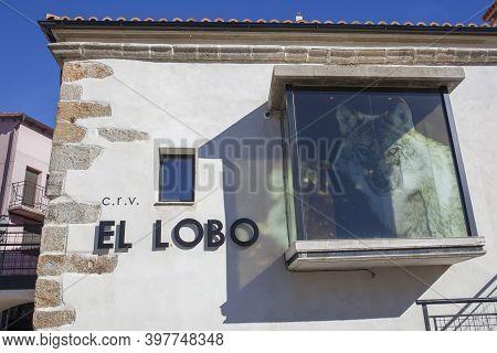 La Garganta, Spain - Nov 21th, 2020: Iberian Wolf Visitors Centre, La Garganta Village. Valle Del Am