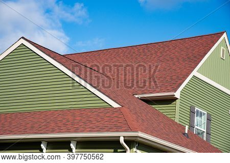 Roof Made Of Red Roofing Material Home Nature