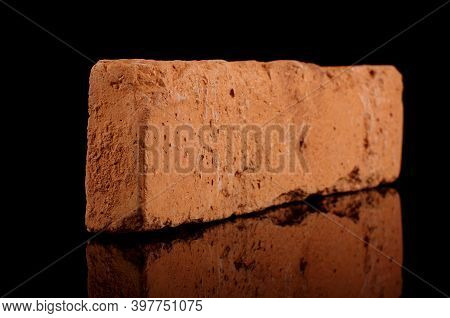 Clinker Brick For House Facade Decor Isolated On The Black Background