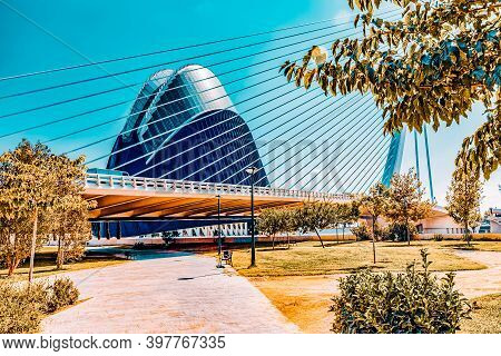 Valencia, Spain - Sept 10: Covered Plaza In Which Concerts And Sporting Events (l'Àgora ) - City Of