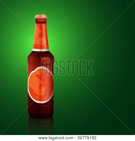 Vector beer bottle