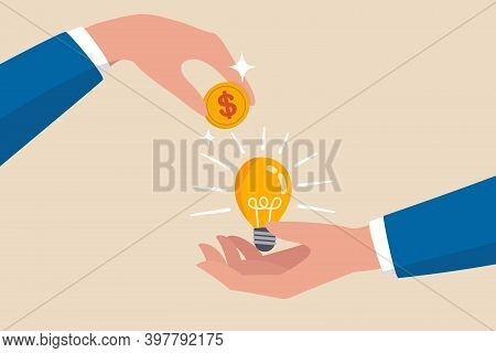 Crowd Funding, New Business Or Start Up Company To Get Money Or Venture Capital To Support Or Sponso