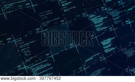 Cyber Crime In Progress Background With Code Information Being Stolen. Animation. Digits And Data Mo