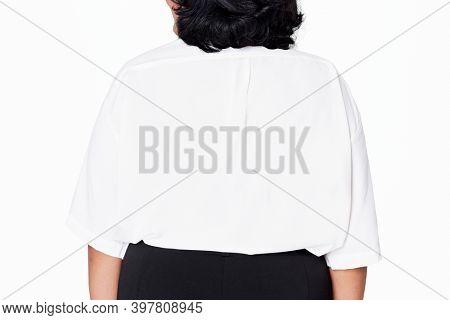 Size inclusive white shirt women's fashion