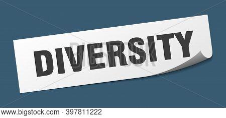 Diversity Sticker. Diversity Square Sign. Diversity. Peeler