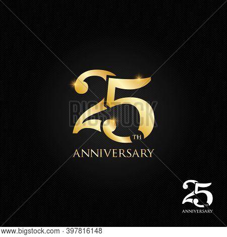 25 Years Anniversary Logo, Icon And Symbol Vector Illustration