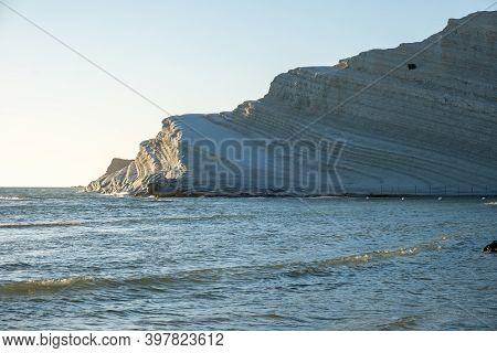 Scala Dei Turchi Stair Of The Turks, Sicily Italy, Scala Dei Turchi. A Rocky Cliff On The Coast Of R