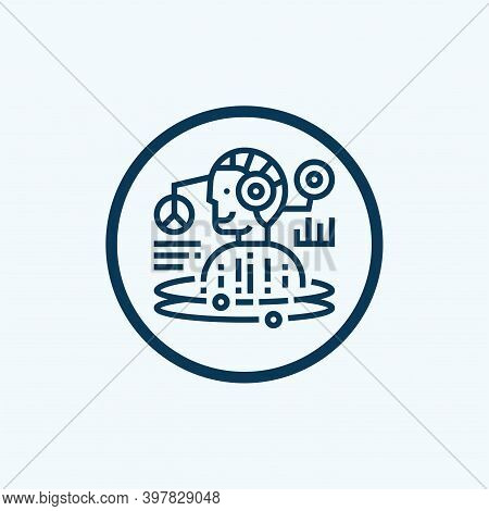 Robot Icon Isolated On White Background From Industry Collection. Robot Icon Trendy And Modern Robot