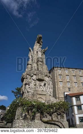 Francis Of Assisi Monument, In The City Of Santiago De Compostela, Spain