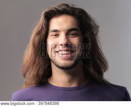 portrait of a young smiling man