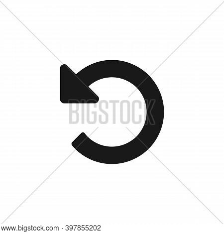 Back Or Return Vector Icon Isolated On White Background. Undo Symbol. Vector Eps 10