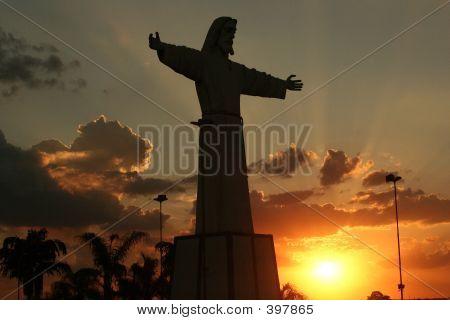 jesus silhouette poster