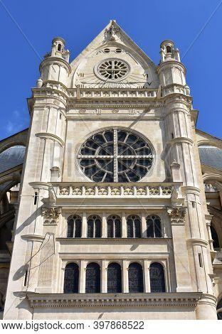 Saint-eustache Gothic Church At Les Halles Neighbourhood. Paris, France.