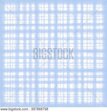 Light Blue White Pastel Vintage Checkered Background With Blur, Gradient And Grunge Texture. Classic