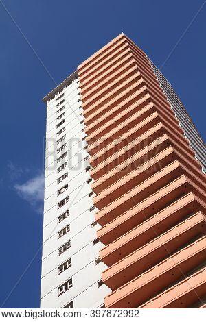 Havana, Cuba - February 24, 2011: Edificio Someillan Bulding In Havana, Cuba. Someillan Bulding Is 1