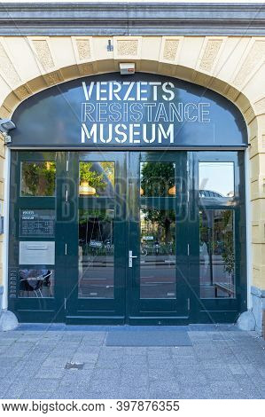 Amsterdam, Netherlands - May 14, 2018: Verzets Dutch Resistance Historic Museum In Amsterdam, Hollan