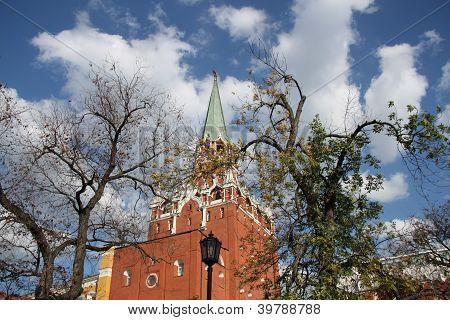 Moscow Kremlin view from Alexandrovsky garden