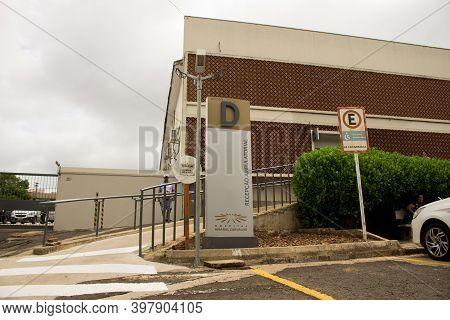 Jau / Sao Paulo / Brazil - 02 21 2020: Entrance D Of Amaral Carvalho Hospital - Ambulatory Reception
