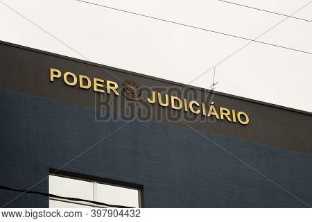 Jau / Sao Paulo / Brazil - 02 21 2020: Judiciary Power / Federal Justice (poder Judiciário / Justiça