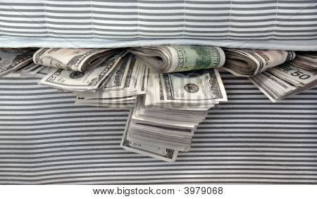 Money Stuffed In Between The Mattresses