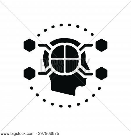 Black Solid Icon For Cognitive Emotional Intellectual Mental Subjective Imagination Concept