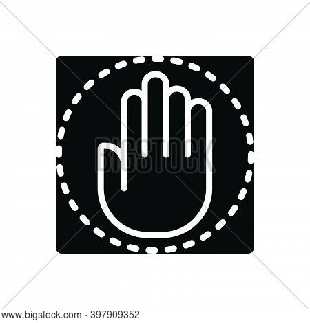Black Solid Icon For Congressional Hand Paw Claw Democracy Government Congress Sign Parliamentary Se