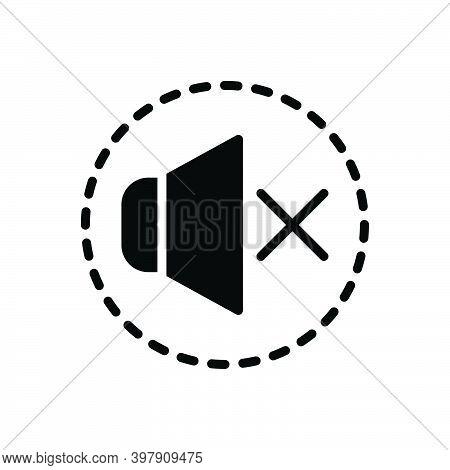 Black Solid Icon For Silence Sound Mute Silent Quiet Secret Hush Keep-quiet Speaker Volume