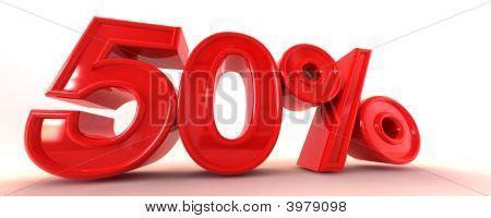 50% 3D Sign